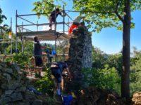 Renovierungsarbeiten auf der Burg Piberstein