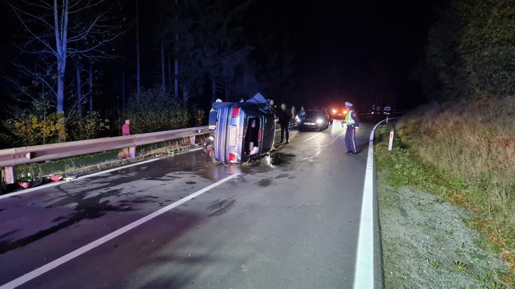 Verkehrsunfall Aufräumarbeiten am 24. Oktober